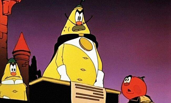 Чиполліно, кадр з мультфільму