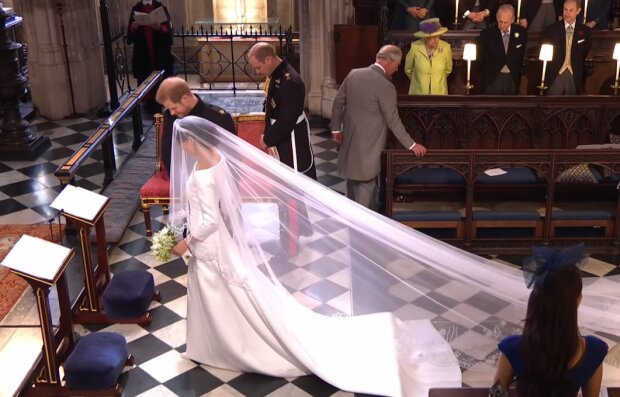 Свадьба принца Гарри и Меган Маркл, скриншот видео