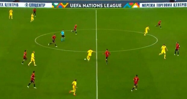 Україна-Іспанія, скріншот з відео