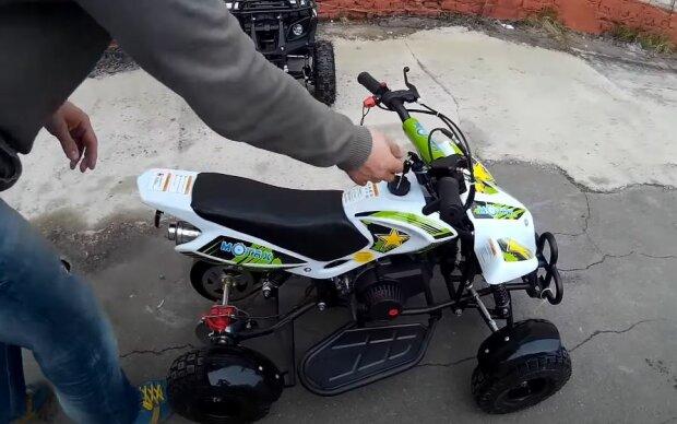 Дитячий квадроцикл, скріншот: YouTube