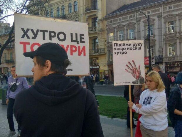 Зазирни в очі своїй шубі: у Львові відбувся масштабний антихутряний марш