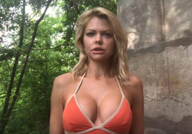 Александра Клитина, скрин с видео
