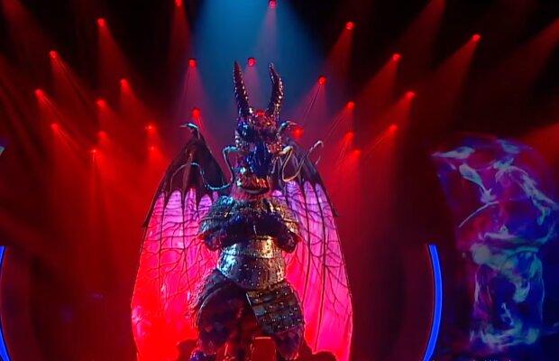 """Дракон на шоу """"Маска"""", facebook.com/MaskaUkraineTV"""
