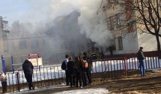 На Закарпатье вспыхнула школа