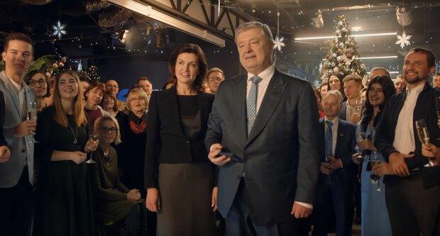 Новогоднее поздравление Порошенко, скрин из видео