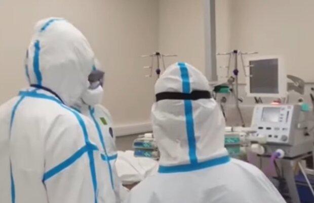 Больница во время пандемии, фото: кадр из видео