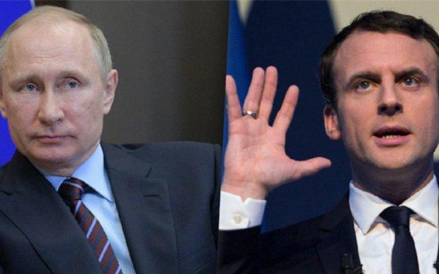 """Переговори Путіна і Макрона: журналісти влаштували """"фаєр-шоу"""""""