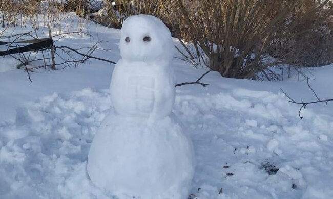 Снеговик, фото: Facebook Калушский формат
