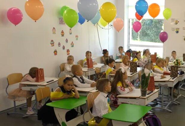 Обучение в школе, кадр из видео