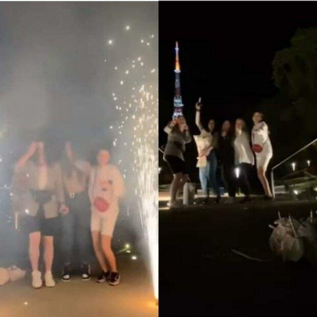 Львівська блогерка погарцювала на меморіалі Небесної Сотні під російську попсу