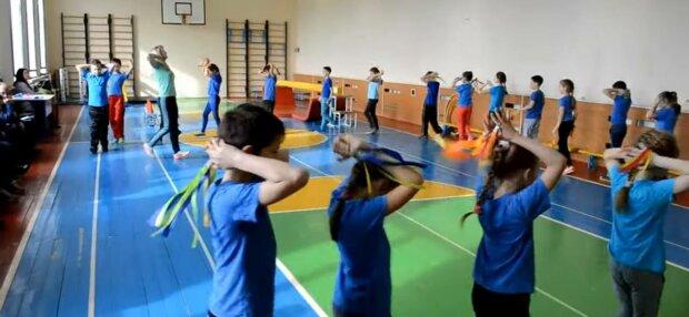 Урок фізкультури, фото: скріншот з відео