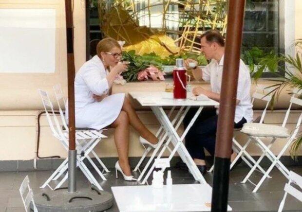 """Юлия Тимошенко и Олег Ляшко, фото: Telegram-канал """"Украина в шоке"""""""