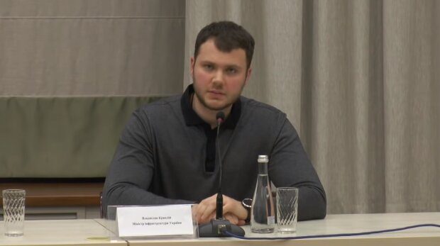 Міністр інфраструктури Владислав Криклій, фото YouTube