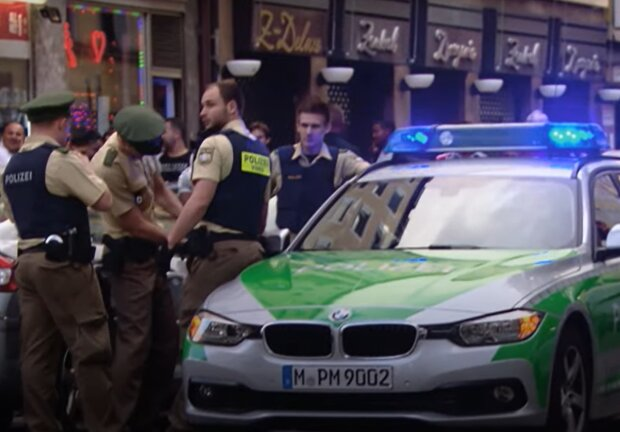 Немецкая полиция, скриншот: YouTube