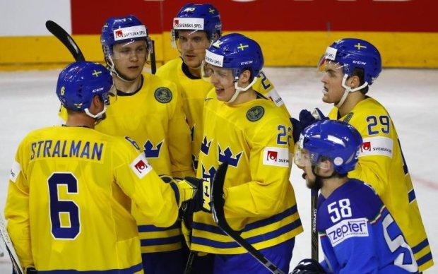 Букмекери вважають Швецію явним фаворитом у матчі з Данією на ЧС-2017 з хокею