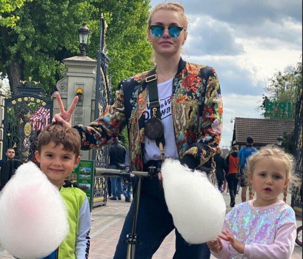 Слава Камінська з дітьми, фото Instagram