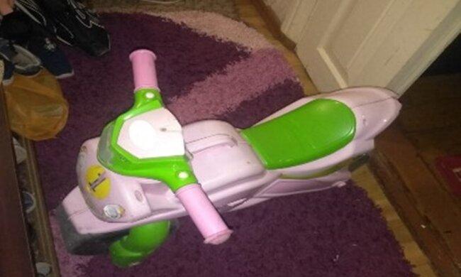 дитячий велосипед, фото з Facebook