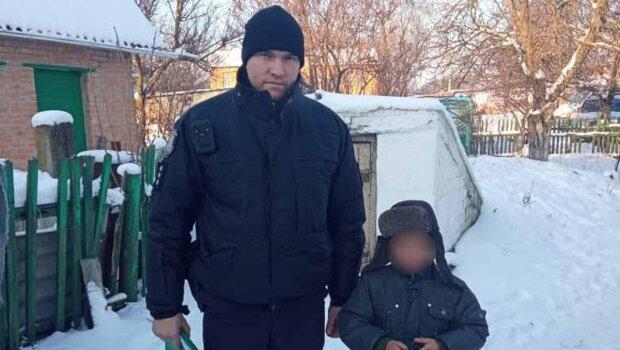 полицейский с ребенком, фото с Facebook
