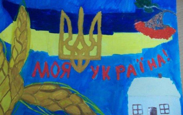 """Дети воинов АТО и переселенцев украсили """"владения"""" Порошенко"""