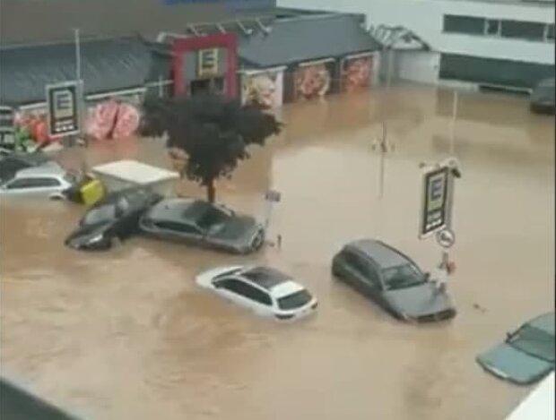 Наводнение в Германии, скриншот с видео