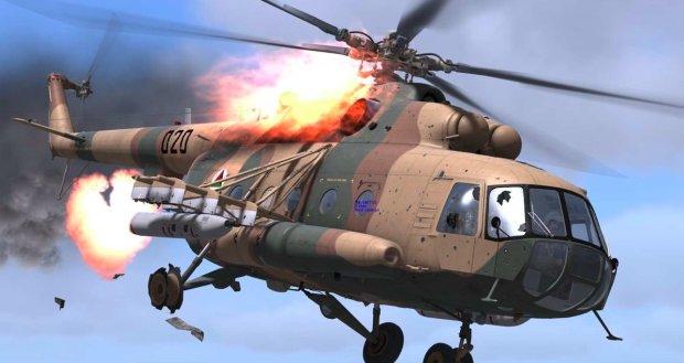 Очевидцы раскрыли зловещие детали крушении вертолета украинских военных: яркая вспышка, дым и взрывы