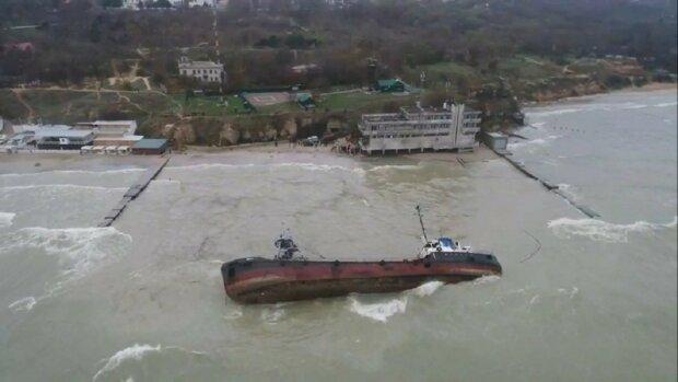 Танкер Delfi, Одеса - скріншот з відео