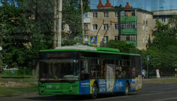 Харківський тролейбус, скріншот з відео