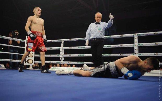 Украинец Малиновский нокаутировал венгерского боксера и защитил свой титул
