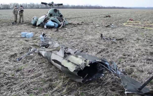 В сети показали последние минуты экипажа Ми-2