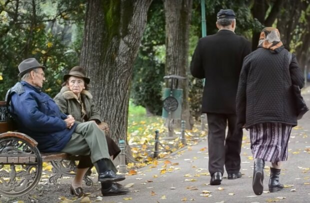 пенсіонери, скріншот з відео