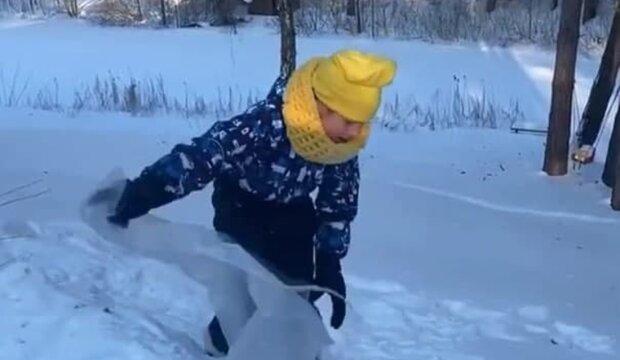 дочь Поляковой Алиса, скриншот с видео