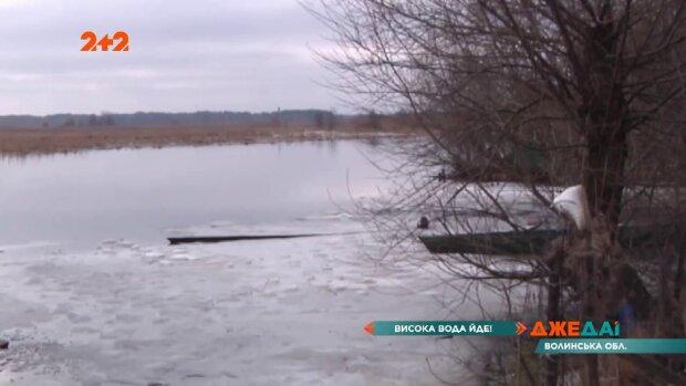 На Волині піднявся рівень води, кадр з репортажу джедаї: Facebook
