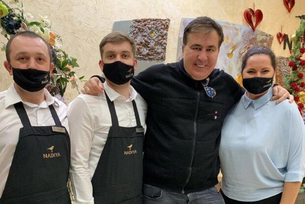 Саакашвили во Франковске, фото: Facebook NADIYA Hotel