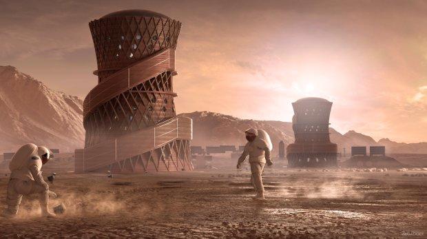 Ученые рассказали об архитектуре на Марсе: фото невероятного будущего может вас шокировать