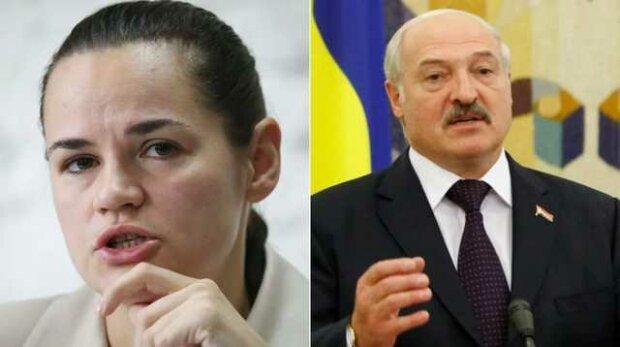 Тихановская и Лукашенко, коллаж