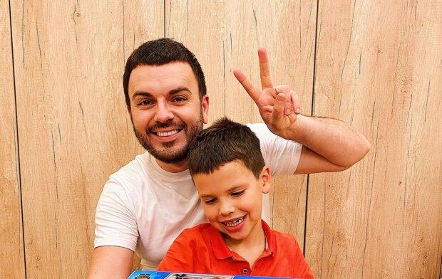 Григорий Решетник с сыном, фото с Instagram