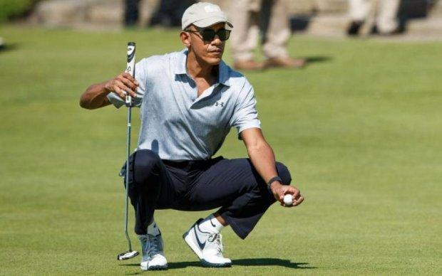 Обама дал Трампу мастер-класс по гольфу: видео
