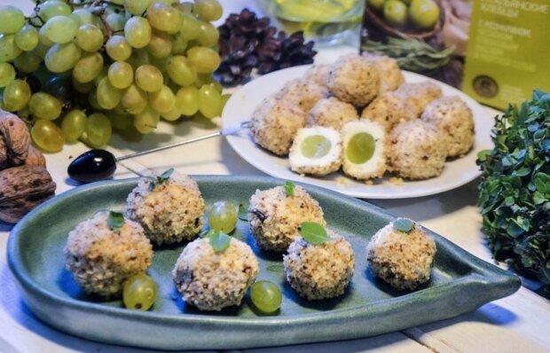 Закуска из винограда, фото: instagram.com/foody.magic