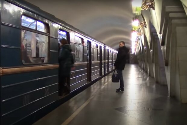 метро Харькова, скриншот из видео
