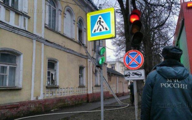 Намагаючись підпалити Раду Федерації, москвич загорівся сам: відео