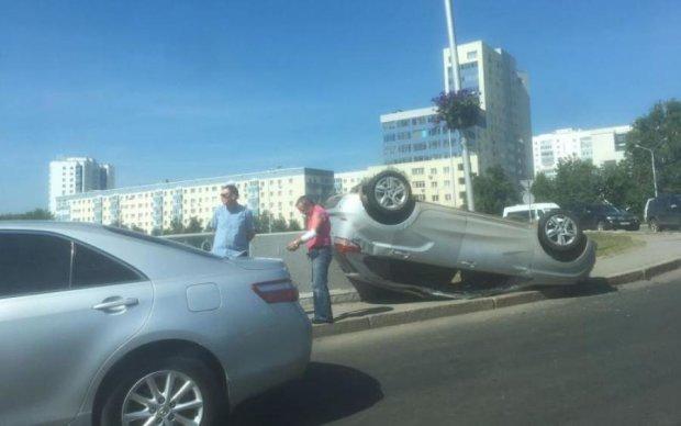 Харьковский водитель-терминатор показал мастер-класс, как выжить в ДТП