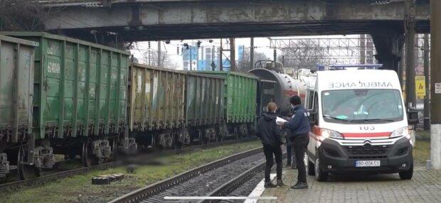 Поліція і швидка, фото: скріншот з відео
