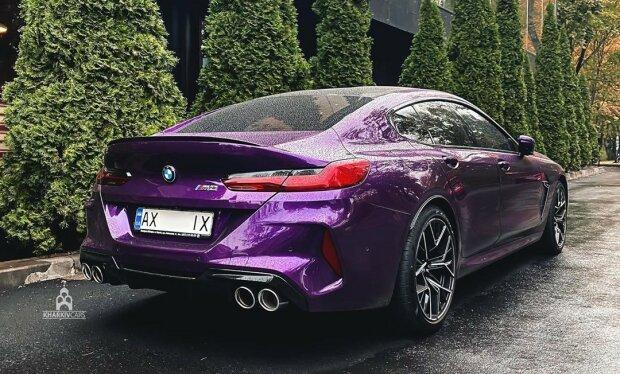 У Харкові помітили розкішний BMW M8 за 7 мільйонів, схожий на баклажанчик