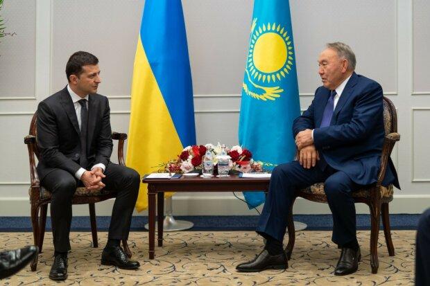 Нурсултан Назарбаев и Владимир Зеленский, фото: Сайт президента