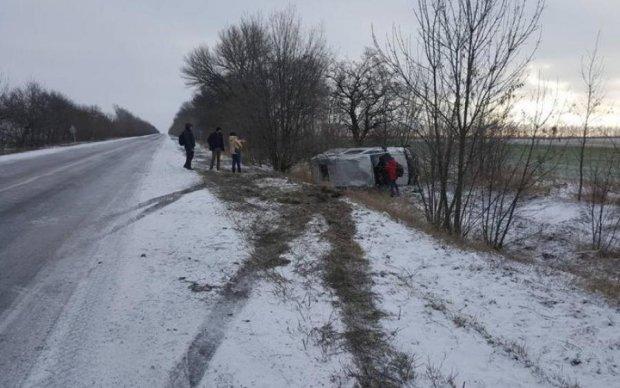 Под Киевом разбился автобус со школьниками, есть жертвы