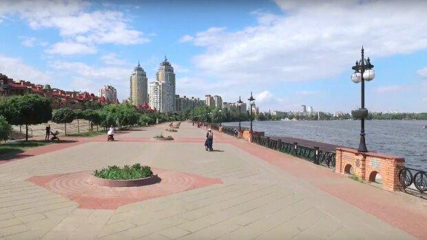 Киев, Оболонь, скриншот из видео
