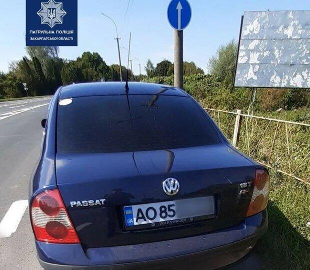 На Закарпатье патрульные оштрафовали водителя авто с 3D номерным знаком
