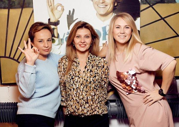 Елена Зеленская с подружками