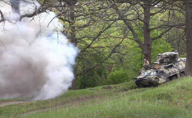 военные учения, скриншот из видео