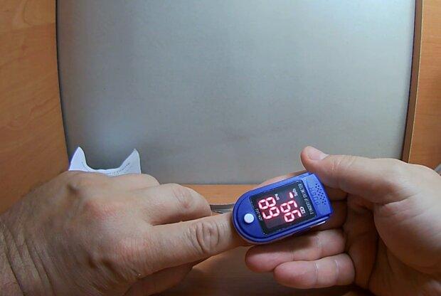 Пульсоксиметр, фото: кадр з відео
